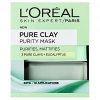L'Oréal Paris Skin Expert- Pure Clay -tisztító és mattító arcmaszk -50 ml